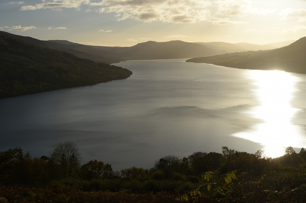 View W along Loch Tay from the access track