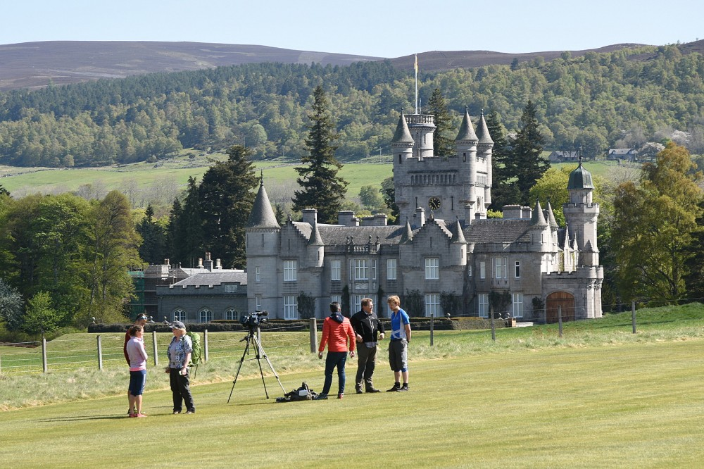 Film crew by Balmoral Castle