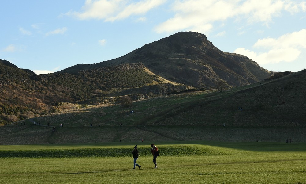 Arthur's Seat (Senior start was at the col on the left)