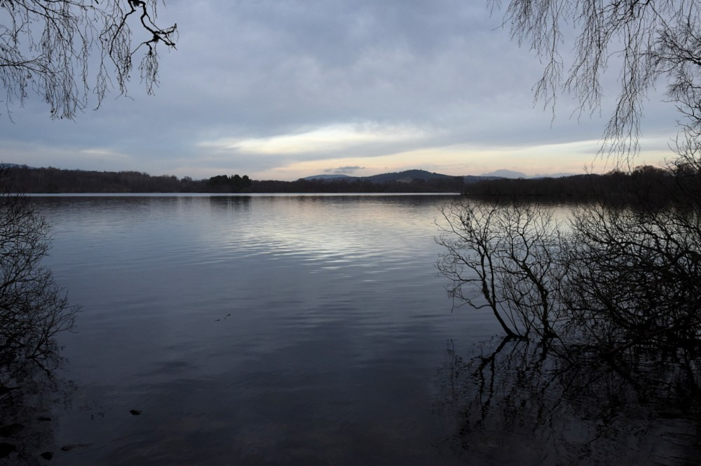 Loch Kinord from the route to the start