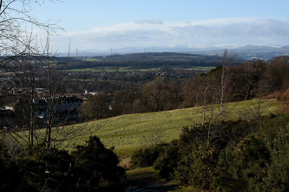 View NW from Corstorphine Hill