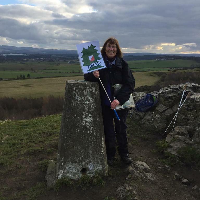 2021 Anne on Binny Crag W Lothian