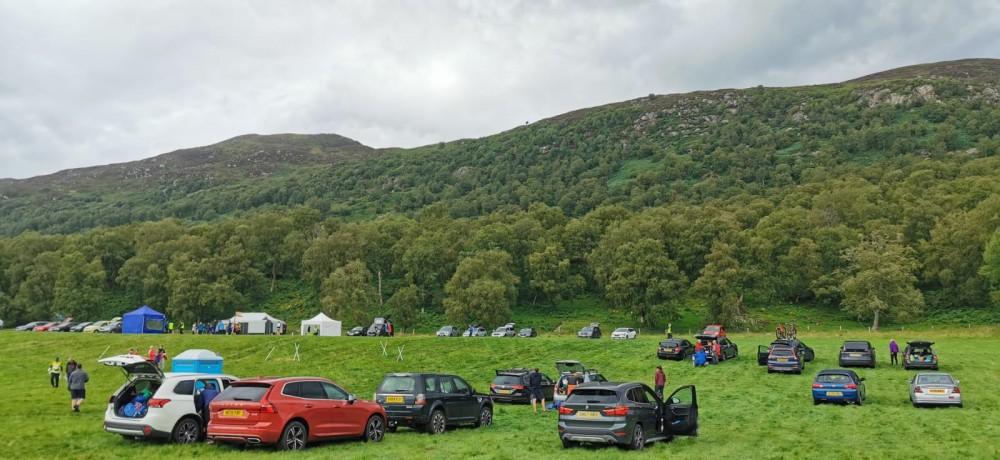 Creag Dhubh - parking and general view of the hill