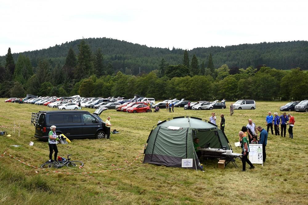 Glen Tanar parking field
