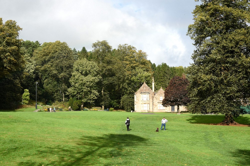 Dean Castle Country Park - start and finish area