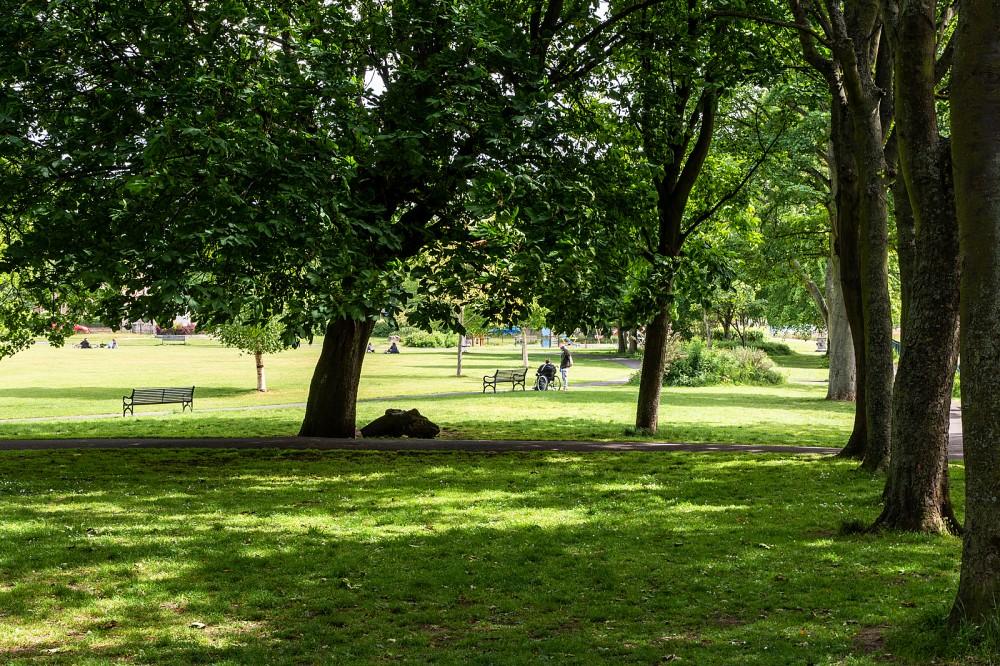 Victoria Park, looking east
