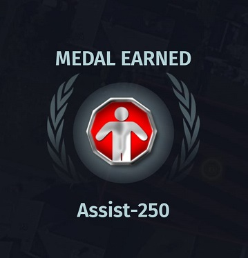 Assist-250 medal