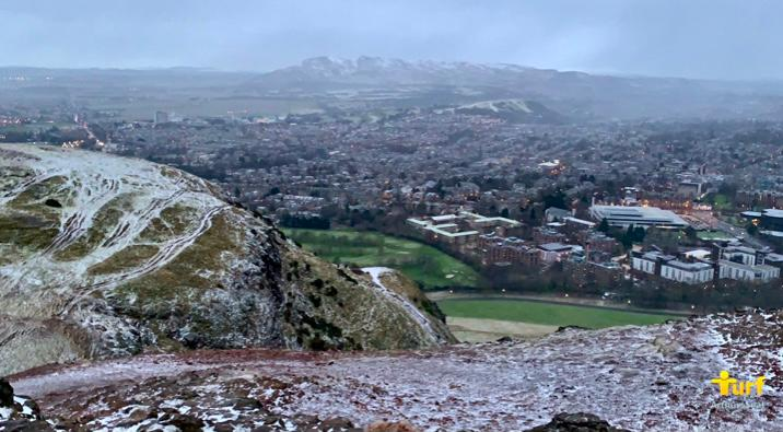 View SW from Arthur's Seat