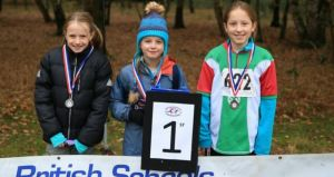 Year 5 Girls podium, Ray Barnes, NOC