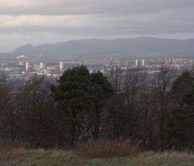 View N to Glasgow from Cathkin Braes (taken at a previous event), Crawford Lindsay