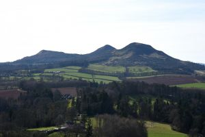 The Eildon Hills, from the E, Sally Lindsay