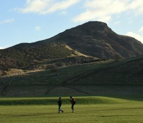 Arthur's Seat (Senior start was at the col on the left), Crawford Lindsay