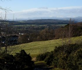 View NW from Corstorphine Hill, Crawford Lindsay